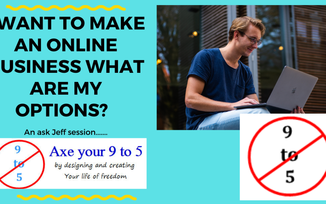 I want to make an online business – what are my options?